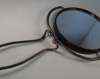 TRAVEL SHAVING MIRROR, Vintage Tortoise Shell Shaving Mirror made in Japan,Mens Shaving Mirror,Gifts for Men,,Travel Accessories