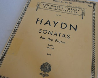 Haydn Sonatas For the Piano Vol. 295  Schirmer's Library of Musical Classics Bk. 1