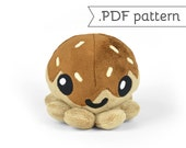 Takoyaki (Fried Octopus Ball) Plush .pdf Sewing Pattern
