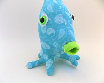 Sea Monster, Sea Creature, Alien Toy, Cute Monster Plush, Stuffed Animal, Alien Fish, Toys for Boys by Adopt an Alien named Pippen