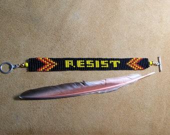 RESIST. Beaded bracelet. Resist Trump. The resistance #trumprussia