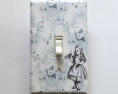 BLACK & WHITE Alice in Wonderland wall plates w/ Matching Screws- Alice in Wonderland wall art decor Alice posters Alice switch cover plates
