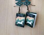 Mini The Last Unicorn Earrings - Book Jewelry- Handmade The Last Unicorn Book Earrings - Mini Book Jewelry - Handmade Mini Book Earrings
