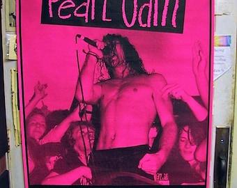 1993 Pearl Jam Slane Castle Sat July 10th Subway Poster HUGE Original Concert Poster