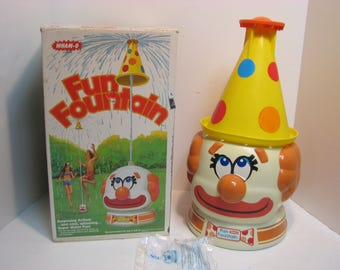 Vintage Wham-O Fun Fountain Clown in Box 1978 Wham-O Summer Water Toy Sprinkler