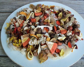 Country Candy Corn Potpourri, Rustic, Halloween Decor, Rustic Fall Decor, Room Scent, Seasonal, Botanicals, Refresher Oil Included