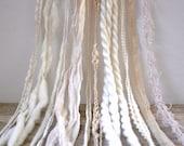 french vanilla dream weaver effects™ 30yd art yarn bundle neutral mixed media fibers textile craft kit organic cotton wools sari silk