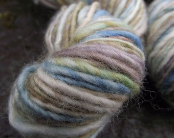 Handspun yarn, handpainted thick and thin, BFL wool, multiple skeins available-Beatrix