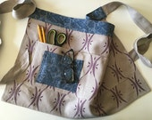 Reversible Half Apron - Craft - Sewing - Teacher - Gardening - Linen Half Apron