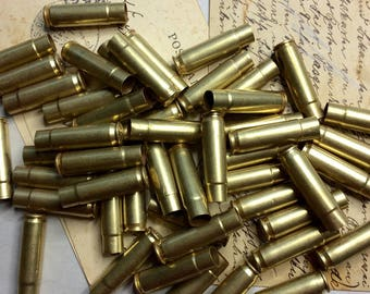"BULLET Casings- 1.25"" Gun- Bullet Shells (50) Repurpose for Jewelry or Art Supply- Mixed Media Supply- Recycle Reuse"