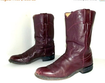 Roper style  Burgandy Wine Justin cowboy boots size 6.5 B