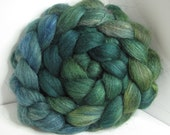 Sale BFL/Tussah/Firestar 50/25/25 Roving Combed Top - 5oz - Super Green 1 - OoaK