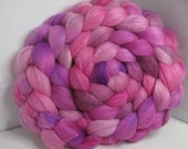 Organic Polwarth/Bombyx 80/20 Roving Combed Top 5oz - She Persisted 1