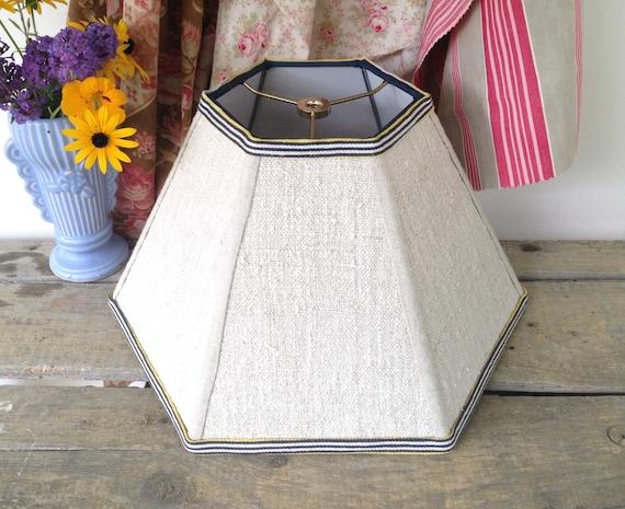 grain sack lamp shade natural lampshade vintage linen. Black Bedroom Furniture Sets. Home Design Ideas