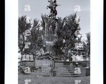 1945 Denver Colorado Reprint Photo Colfax Civic Center Pioneer Monument Fountain