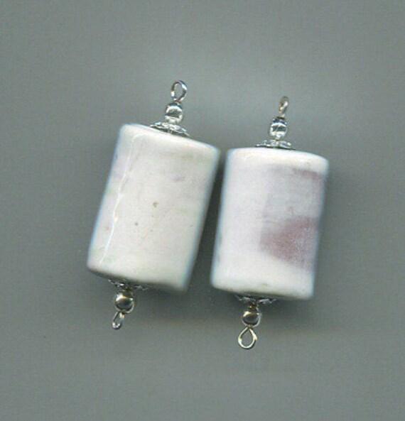 ceramic porcelain bead drop pendant white porcelain bead charms large tube beads large bead drops #supply2004