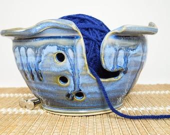 Crocheting Bowl - Crochet Yarn Bowl - Knitting Yarn Bowl - Pottery Knitting - Ceramic Knitting - Crochet Bowl - Yarn Holder - In Stock