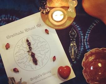 Gratitude Ritual Recipe Kit (Mabon, autumn, fall equinox, ritual kit, blessings)