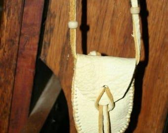Elk Hide Medicine Bag Native American Sacred Pouch