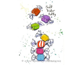 Salt Water Taffy 8x10 Art Print
