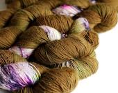 Cherokee Rose 400 yards/HT 'Lustre' Sock Yarn/ single merino yarn speckle