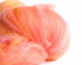 Honeymoon 3.4 oz  Wool - Merino- Art Batt // Wool Art Batt for spinning or felting