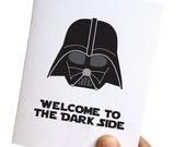 star wars birthday card // birthday cards funny // 30th birthday card funny // darth vader birthday card // welcome to the dark side