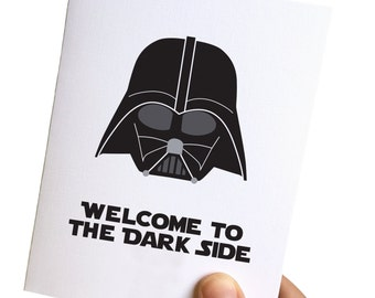 star wars birthday card // birthday cards funny // 30th birthday card funny // darth vader birthday card // welcome to the dark side