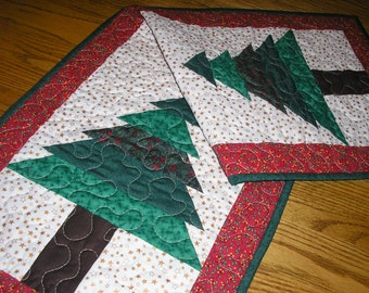 Twin Trees Quilted Table Runner, 15 1/2  x 38 1/2 inches