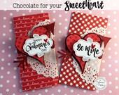 KIT Valentine's Day Candy Bar Wraps / Chocolates for Sweetheart / Valentine Chocolate / Teacher Appreciation / Hershey Chocolate Bar