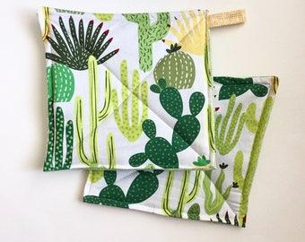 Cactus Print Potholders, Set of 2, Hostess Gift, Foodie