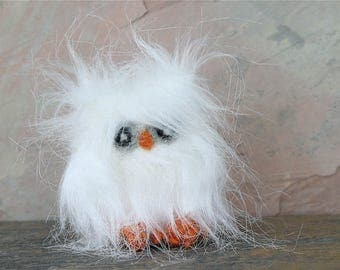 Baby Faux fur Owl fuzzy little friend (wool crazy)