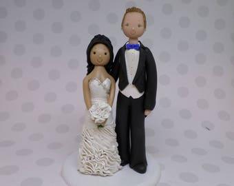 Groom Lifting Sexy Bride's Dress Wedding Cake Topper