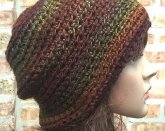 Womens Hat, Womens Beanie, Slouchy Hat, Slouchy Beanie, Womens Slouchy Beanie, Crocheted Hat, Crochet Beanie, The Rory Hat in Autumn