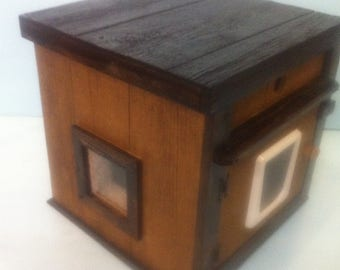 CUSTOM Large Heated Outdoor Cat House/,shelter,bed,condo,sanctuary