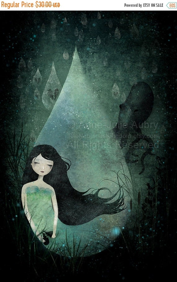 Winter Sale 20% OFF - Ocean of Tears - Deluxe Edition Print