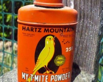 Hartz Mountain Products  My-T-Mite Powder tin