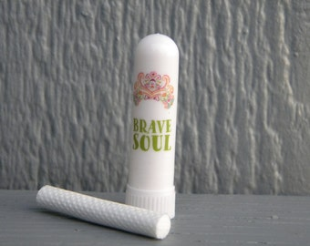 Aromatherapy Inhaler - Brave Soul -  Blank or Filled Your Choice