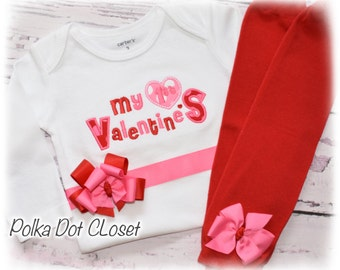 First Valentine's Day bodysuit with bow