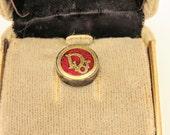 DIOR Logo Vintage Tie Tac Original Box Christian Dior Enamel Rare
