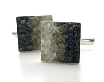 Mosaic Cuff Links - Moonstone and Labradoarite