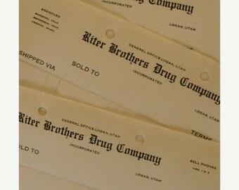 ONSALE Antique Druggist Unused Ledgers