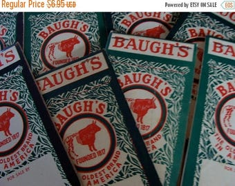ON SALE One Vintage Baugh's Farmhouse Ledger Notepad