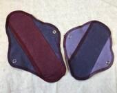 Luna Rags/ Hemp and Organic Cotton Moon Pads/Mini and Maxi Menstrual Cycle Pads