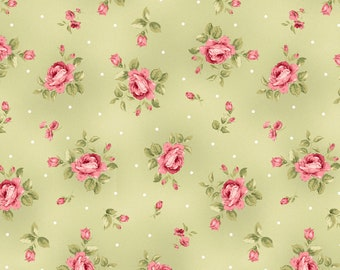 Green Flannel Fabric - Welcome Home - Maywood - F8362M-G
