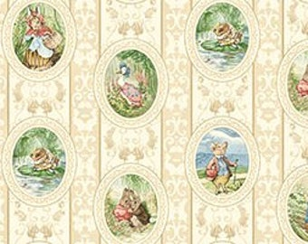 Dollhouse Miniature Shabby Chic Wallpaper Beatrix Potter Peter Rabbit 1:12