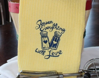Season everything with Love Embroidered Kitchen Towel