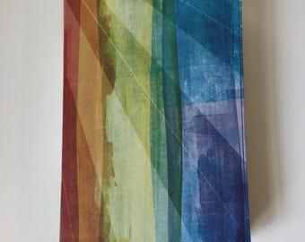 Rainbow Splash Spanish Leather Journal