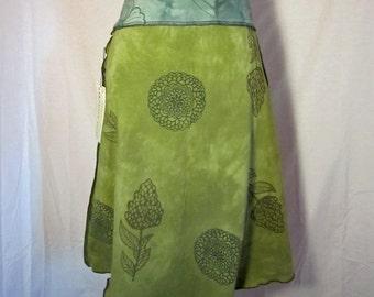 Olive Knit Organic Skirt