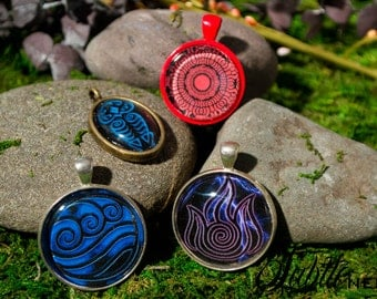 Avatar and Korra Pendants